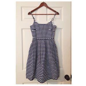 JCrew Striped Midi Dress.